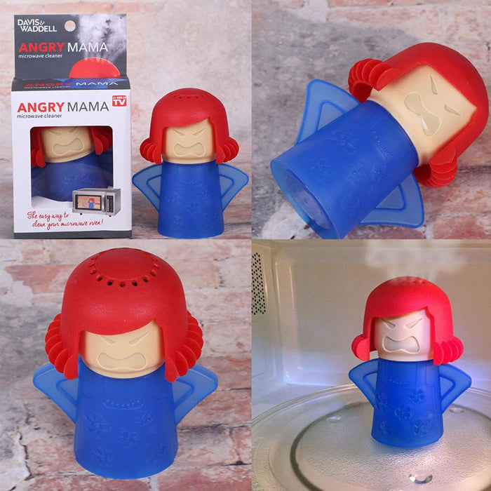 Angry Mama Microwave Cleaner uses