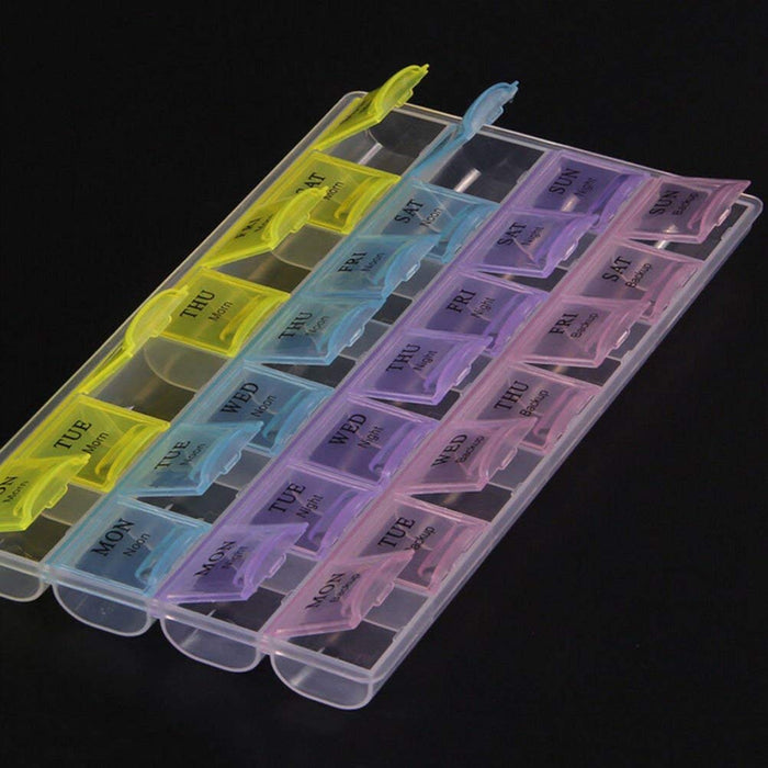 7 Days Tablet Pill Box Organiser and 600ml Pill Storage Water Bottle Combo