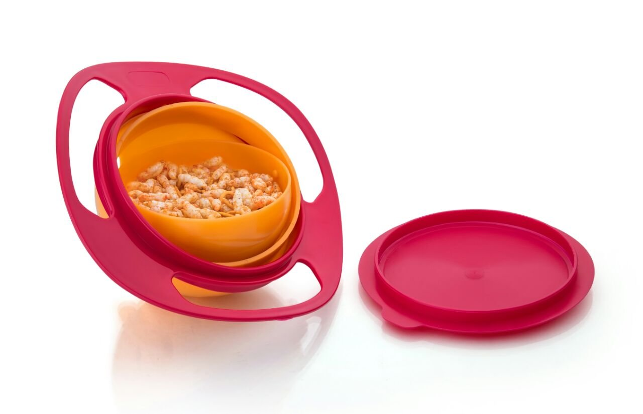 Round Revolving Lunch Box