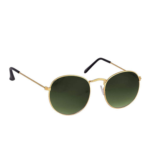 Men Sunglass-Green Oval -      DD-040606 - Medium Size