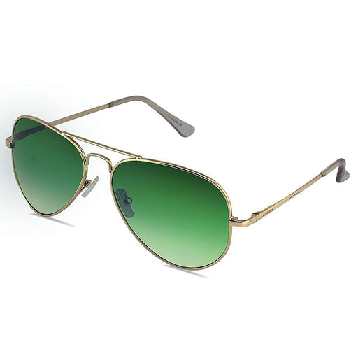 Unisex Sunglasses -  UV Protected Aviator Green Lens - DD-040606