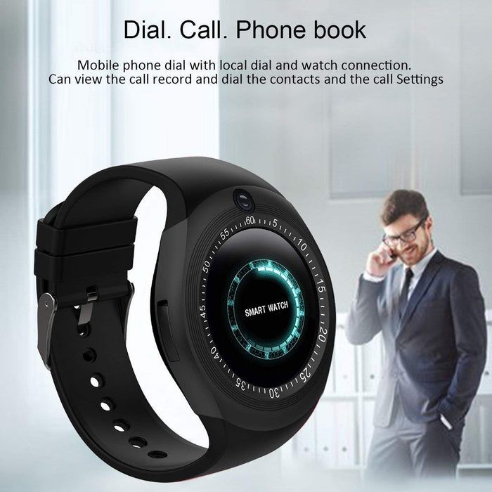 Y1S Round Bluetooth Smartwatch with SIM Card Slot