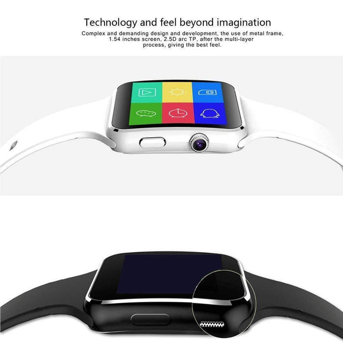 X6 PLUS Bluetooth Smartwatch Curved Screen