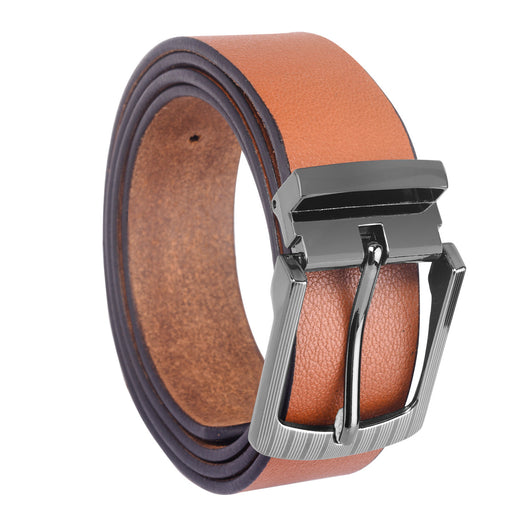 Tan Color Semi-Formal Leather Men's Belts- LBT-MOCHA-16
