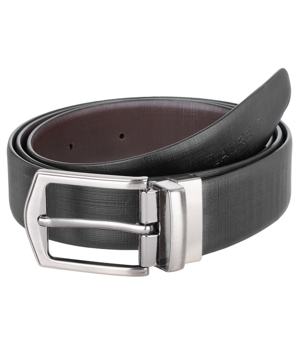 Black & Brown Reversible Semi-Formal Genuine Leather Belts For Men- Lbt-Italian-0209