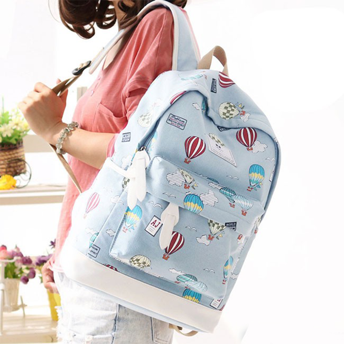 Balloon Printed School Backpack