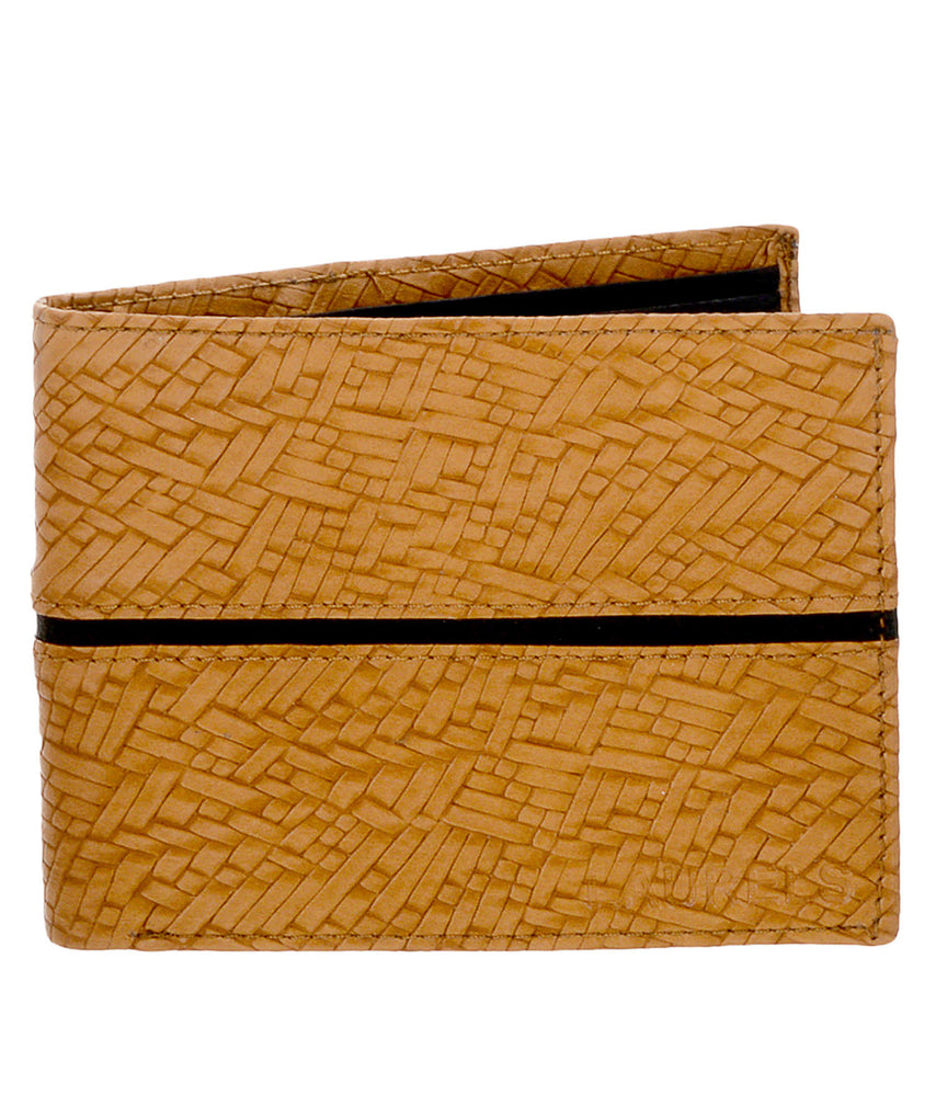 Laurels Tan Color Formal Men's Wallet