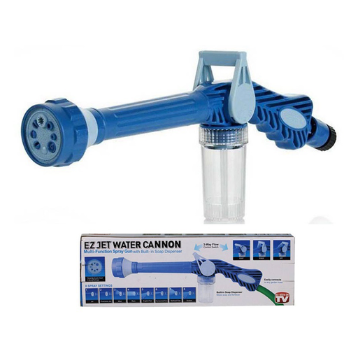 Ez Jet Water Cannon - 8 In 1 Turbo Water Spray Gun For Gardening, Car Wash & Home Cleaning