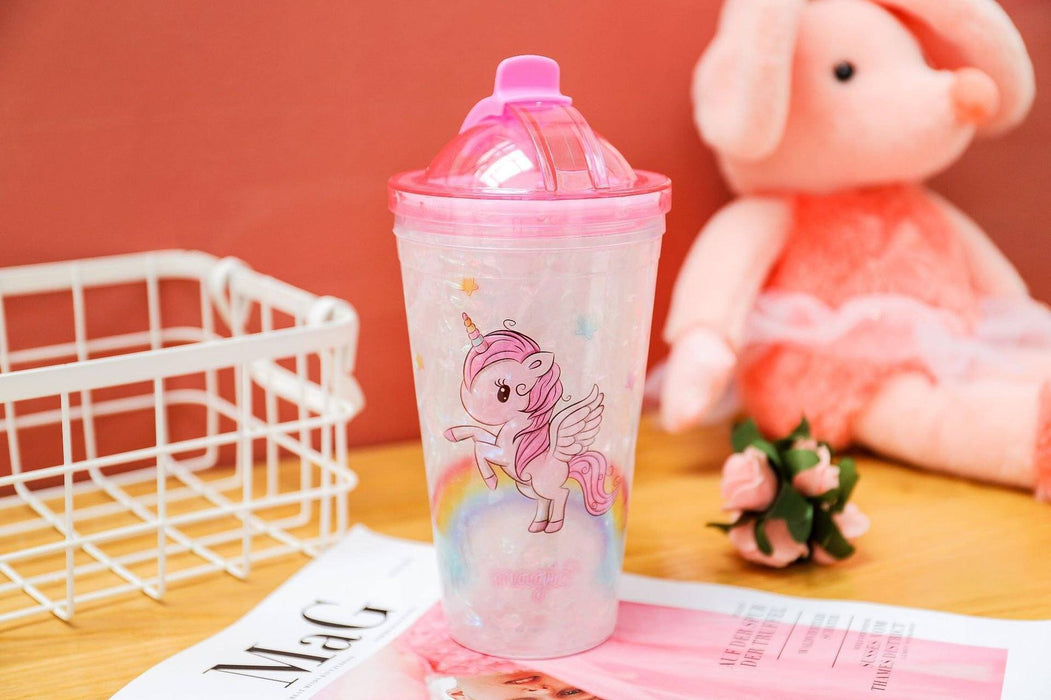 Flying Unicorn Magic Marble Frosted Sipper