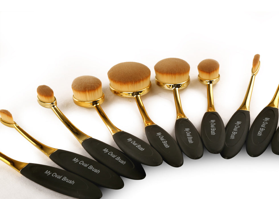 Oval Makeup Brush Set COD