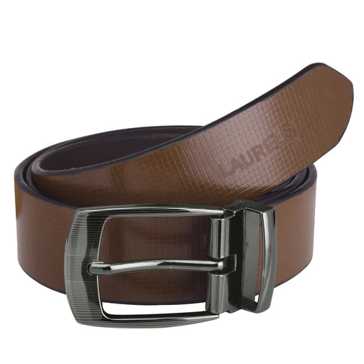 Brown Color Semi-Formal Leather Men's Belts- LBT-CRS-09