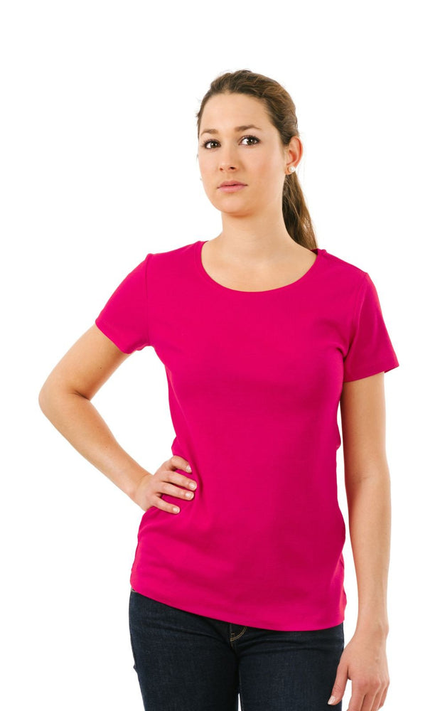 Women's Plain T-Shirt Magenta