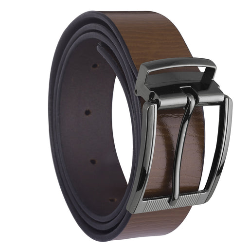 Brown Color Semi-Formal Leather Men's Belts- LBT-MZRT-09