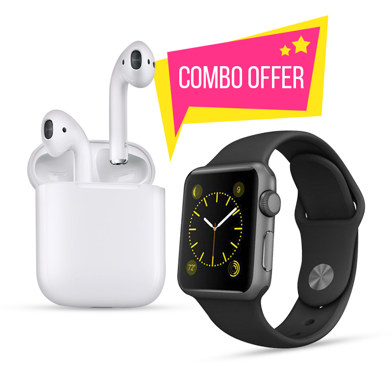 Combo Offer - BLUETOOTH SMART WATCH + ORIGINAL EAR PODS