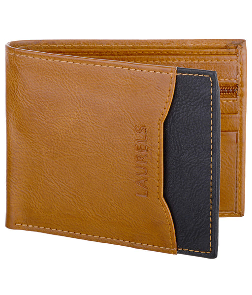 Tan Color Semi Formal Men's Wallet With Additional Flap