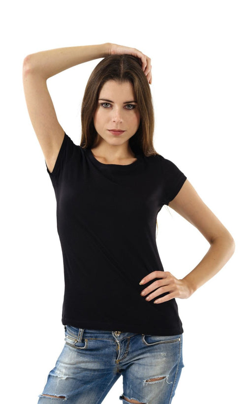 Women's Plain T-Shirt Black