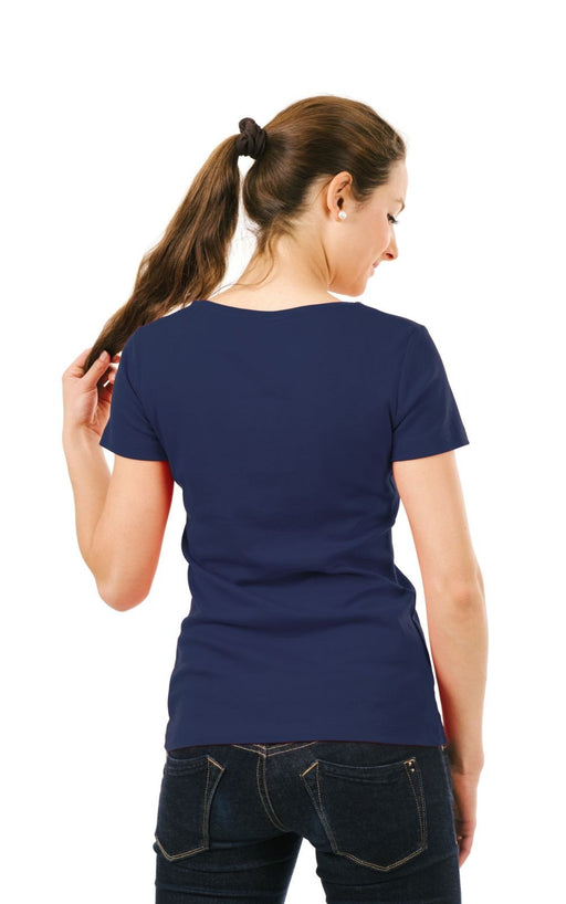 Women's Plain T-Shirt Navy Blue