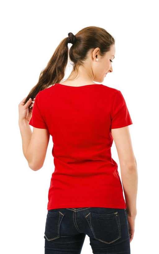 Women's Plain T-Shirt Red