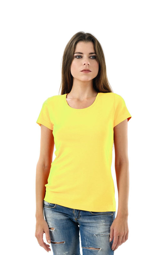 Women's Plain T-Shirt Yellow