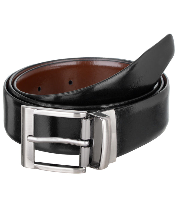 Black & Brown Reversible Semi-Formal Genuine Leather Belts For Men- Lbt-Italian-III-0209