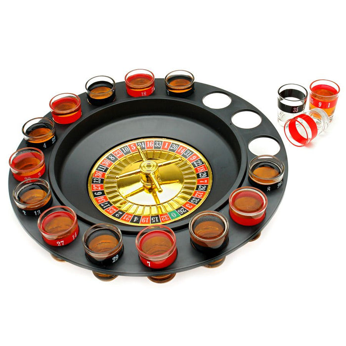 SHOT GLASS ROULETTE DRINKING GAME 16PC SET Price