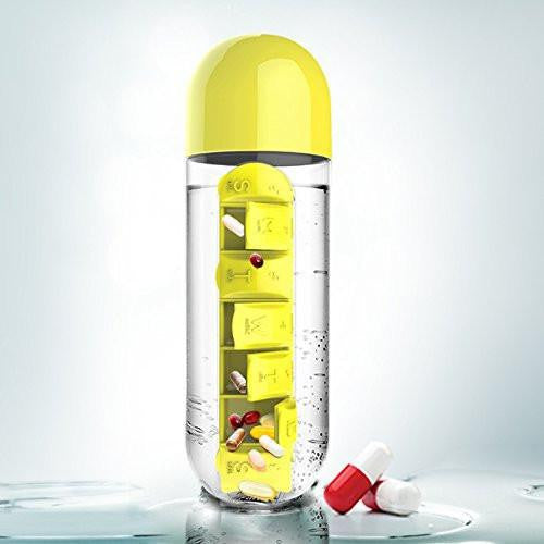 colorful Water Pill Bottle