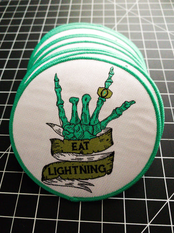 Eat Lightning Clothing Accessories Skelly Patch