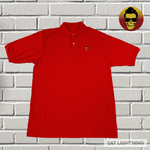 Eat Lightning Clothing Shirts Rebel Polo True Red