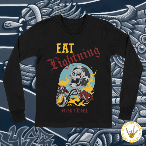 Eat Lightning Clothing Shirts S Straight To Hell Long Sleeve T-Shirt