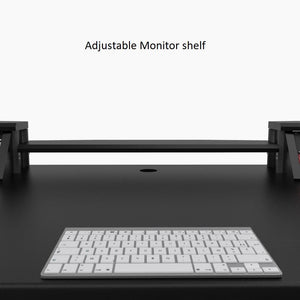 Commander V2 Desk with Keyboard pullout option All Black