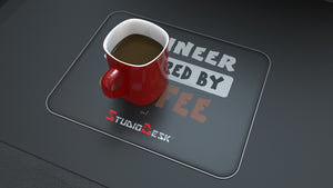 Mouse and Coffee pad branded with StudioDesk