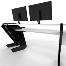 PRO LINE Classic Desk all Black and Keyboard pull out option - Bundle