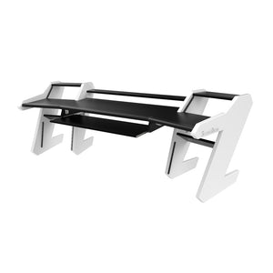 PRO LINE Classic desk Black and Keyboard pull out option - Bundle
