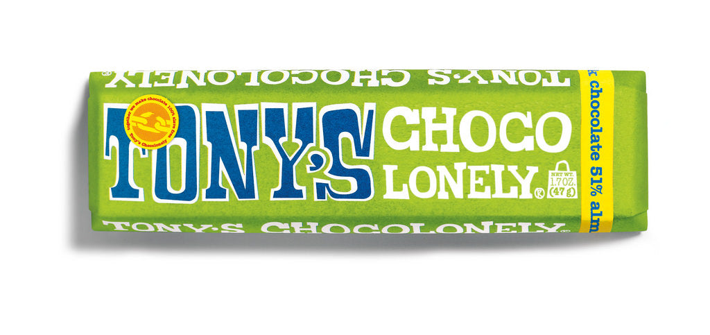 Tony's Chocolonely Dark Almond Sea Salt 47g Bar