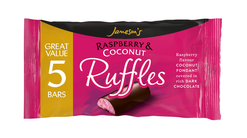Jameson's Raspberry & Coconut Ruffles - Pack of 5 bars