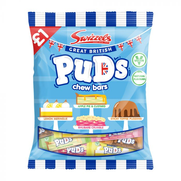 Swizzels Great British Puds Chew Bars