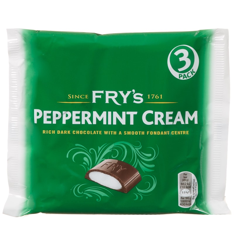 Fry's Peppermint Cream - 3 bars per pack