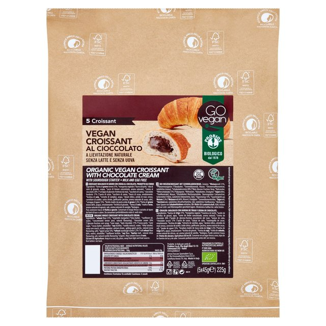 Go Vegan Organic Wheat Croissants - Cocoa - Pain au chocolat. Pack of 5