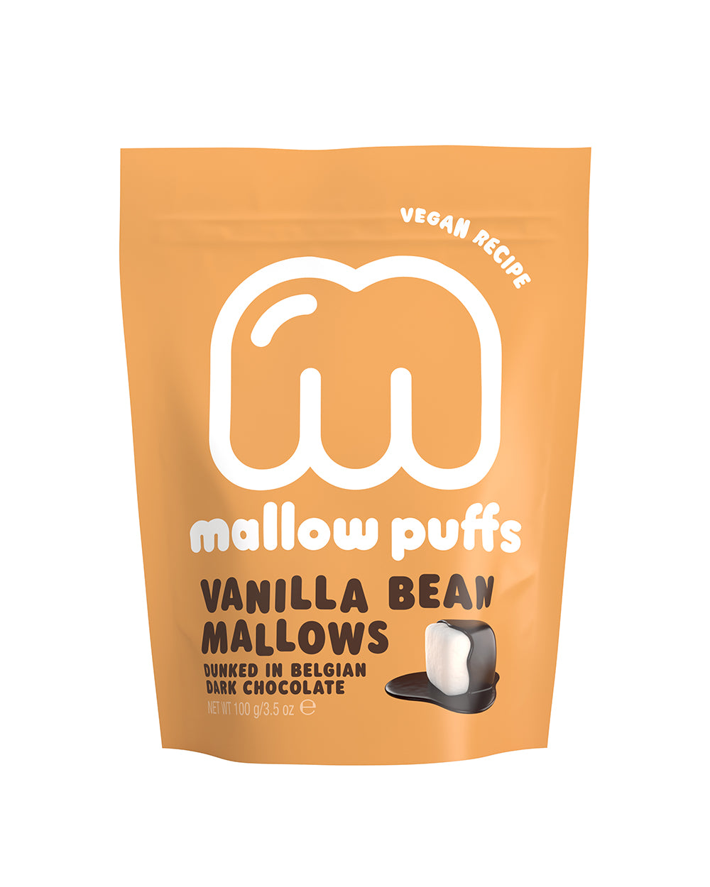 Mallow Puffs Vanilla Bean Mallows Dunked Belgian Chocolate BEST BEFORE 28.02.2021