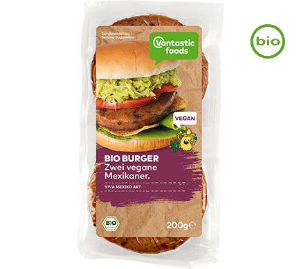 Vantastic Foods Organic Bio Burger Mexican - Best Before Date 22/04/20
