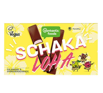 Vantastic Foods Schakaloha Bars - Box of 8 mini chocolate with Almond Filling & Calamansi and Raspberry Flavour bars
