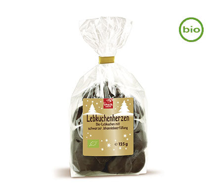 Linea Natura Organic Chocolate  Lebkuchen Gingerbread with Sweet Blackcurrant Filling