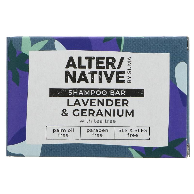 Suma Alter/native Lavender & Geranium Shampoo Bar with Tea Tree