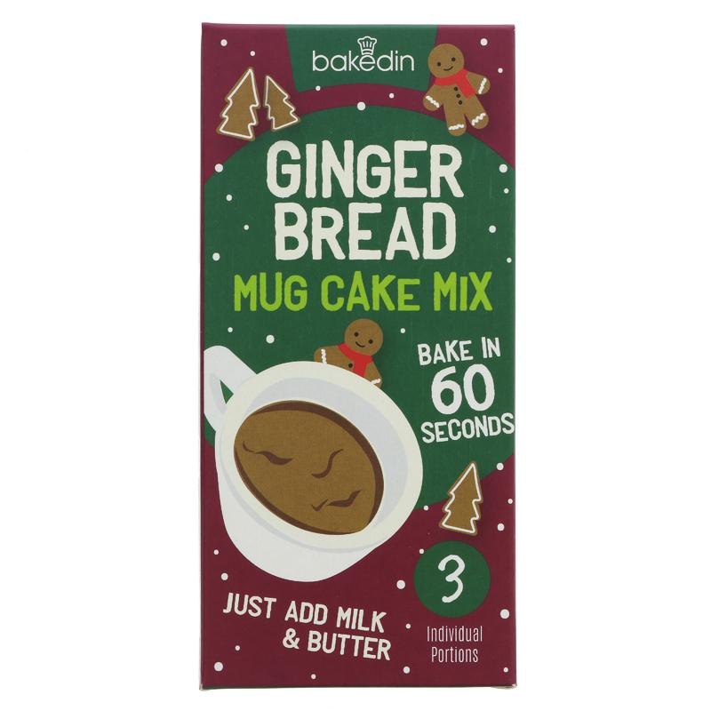 Bakedin Gingerbread Mug Cake Mix - Pack of 3