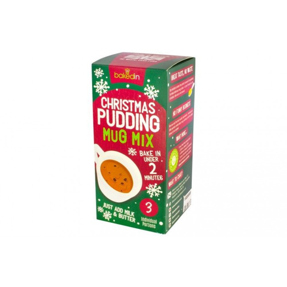 Bakedin Christmas pudding Flavoured Mug Cake Mix - Pack of 3