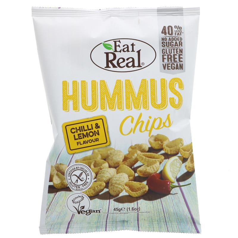 Eat Real Humus Chips Chilli Lemon