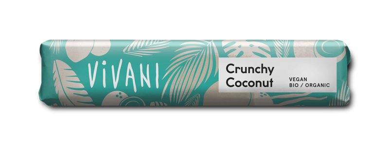 Vivani Crunchy Coconut Chocolate Bar