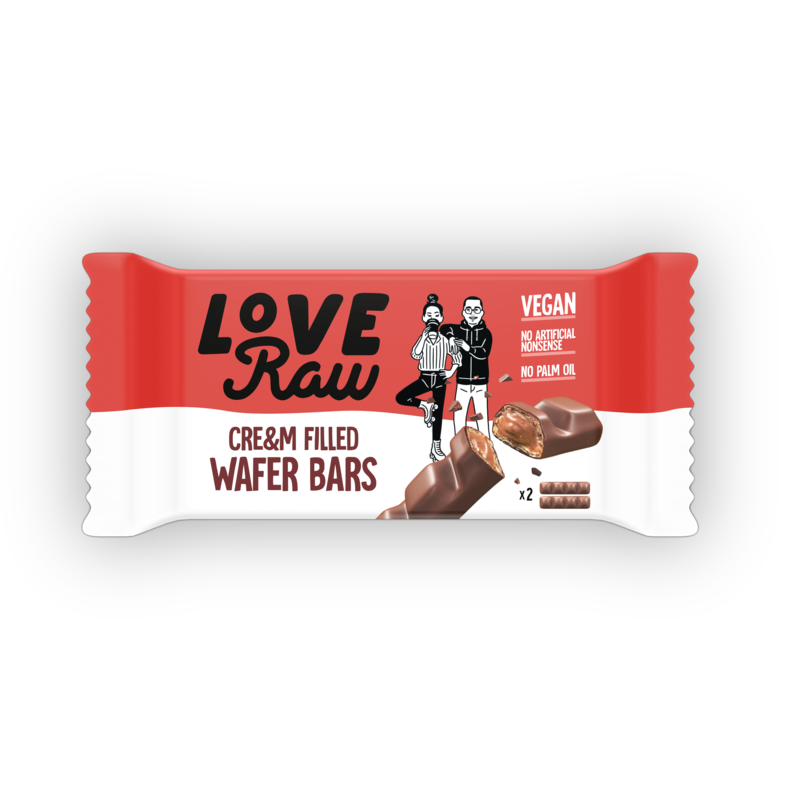 Love Raw Cre&m Filled Wafer Bars