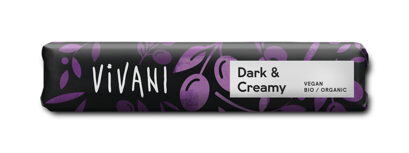 Vivani Dark and Creamy Chocolate Bar 35g