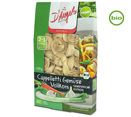D'Angelo Organic Wholemeal Capelleti with Vegetable Filling